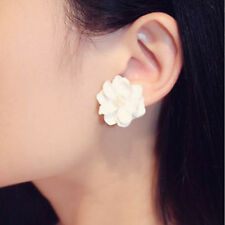 Lady Elegant Faux Pearl Flower Ear Studs Earrings Fashion Jewelry Accessories
