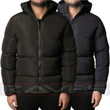 Mens D-Project Jacket Coat Padded Bubble Puffer Zip Up Hooded Winter Black Navy