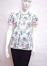 MARKS & SPENCER PER UNA IVORY / MULTI COLOUR CROCHET LACE JUMPER / TOP 8 to 22