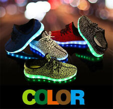 2018 7 LED Luminous Shoes Boys Girls Fashion Light Up Trainer Sneakers Kids Gift