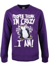 Psycho Penguin People Think I'm Crazy Männer Sweatshirt lila