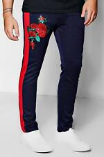 Boohoo Skinny Fit Floral Embroidered Jogger para Hombre