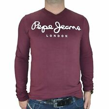 PEPE JEANS - T SHIRT MANCHES LONGUES - HOMME - ORIGINAL STRETCH LONG V - B NEUF
