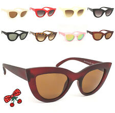 Mujer Rockabilly Vintage Cat Eye Gafas de Sol Retro Estilo 50's Pin-Up en Punta