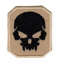 Tactical Morale Army Biker Motorcycle Patch Pirate Skull Desert Tan Color