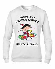 Worlds Best Christmas Shopper Women's Sweatshirt - Gift Present Xmas Jumper