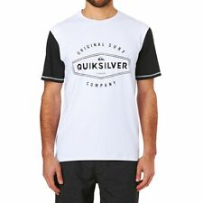 Quiksilver Surf Tees - Quiksilver Last Call Short Sleeve Surf Tee - White