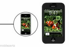 Black Soft Silicone Skin Case Cover for the Original Apple iPhone / iPhone 2G