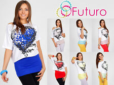 T-shirt Party Kimono Multicolore Maglia a pipistrello + canotta unica 8 -12 5033