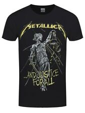 Metallica And Justice For All Tracks Men's Black T-shirt