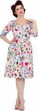 Voodoo Vixen ROSIE Vintage FLOWER Blüten Pin Up SWING Kleid Rockabilly