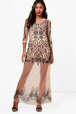 Boohoo Boutique Kasey Embroidered Maxi Dress per Donna