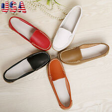 2017fashion Mujer Mocasines Plano Barco Oxford Zapatos Piel Casuales USPS