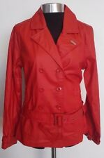 Ladies Fenchurch Red Patti Wax Look Double Breasted Jacket B60