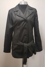 Ladies Fenchurch Black Patricia Wax Look Double Breasted Jacket B66