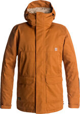 DC HARBOR JACKET LEATHER BROWN