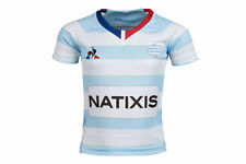 Le Coq Sportif Unisex Racing 92 2017/18 Youth Home S/S Replica Rugby Shirt Top