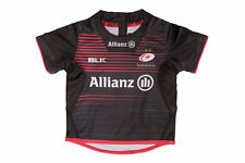 BLK Unisex Saracens 2017/18 Infant Home S/S Replica Rugby Shirt Top Sports