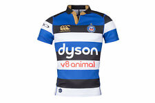 Canterbury Mens Bath 2017/18 Home S/S Players Rugby Test Shirt Top Clothing