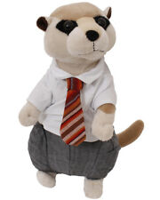 "BUSINESS MEERKAT SOFT TOY CHRISTMAS GIFT 13"" STUFFED ANIMAL TEDDY BEAR CUTE WORK"