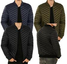 Mens Padded Bubble Puffer Quilted Hooded Jacket Coat Warm Winter Fashion POWER