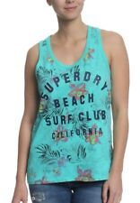 Superdry Camiseta sin mangas mujer Surf Club Aop Overdyed Chaleco Fluro turquesa