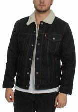 Levis Uomo Giacca in jeans TIPO 3 Sherpa CAMIONISTA 16365-0045 Raw Power