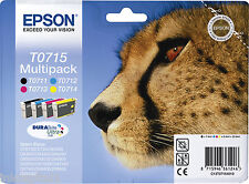 Epson ORIGINALE OEM MULTIPACK CARTUCCE getto d'INCHIOSTRO T0715 - T0711, T0712,
