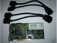 Matrox Millennium G200 Quad monitors with Cables, PCI