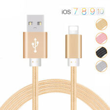 Strong Braided Lightning to USB Fast Charger Data Cable Lead for iPhone 8/8 Plus