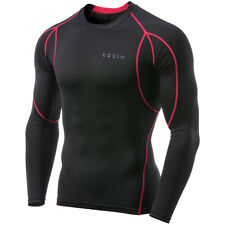 TSLA Tesla MUD11 Cool Dry Long Sleeve Compression Shirt - Black/Red