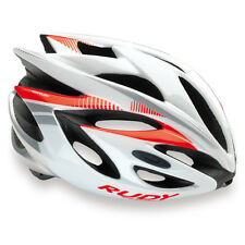 Rudy Project Casco Rush, White/Red Fluo (Shiny)