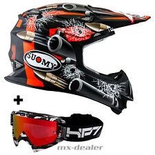 SUOMY Mr. Jump BALA NEGRO CASCO CROSS Casco MX Motocross cruzar con HP7 GAFAS