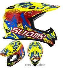 SUOMY Mr. Jump Graffiti Amarillo Neón CASCO CROSS mx motocross enduro DH BMX