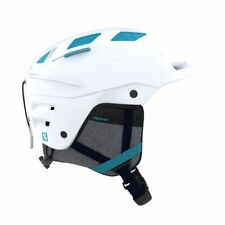 Salomon Helmets - Salomon Womens Qst Charge Snow Helmet - White/Blue Bird