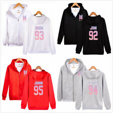 Kpop BTS Bangtan Boys Love Yourself Hoodie Pullover Zipper Jacket JIN JIMIN Coat