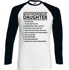 Rules For Dating My Daugther Hombre Divertido Padre Día T-SHIRT Idea Para Regalo