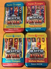 MATCH ATTAX 17 18 EMPTY MEGA TIN + 100 CARDS inc SILVER LIMITED EDITION ATTACK