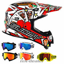 SUOMY Mr. Jump Jackpot Blanco CASCO CROSS MX Motocross + HP7 Gafas DH