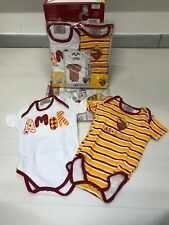3636 ROMA BABY NEONATO COPPIA BODY COTONE MANICA CORTA INFANT  WEAR SET TUTINA