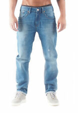 Rocawear Herren Jeans TAPERED STRETCH FIT Light Mid Wash 826