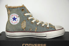 NUOVO ALL STAR CONVERSE Chucks HI 123145 DENIM BLU LUMINOSO Sneakers TGL 36 UK