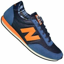 NEW BALANCE - BASKET - HOMME - U410 FNO MICROFIBRE - NAVY ORANGE NEUF