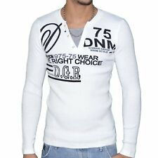 DOGER WEAR - PULL COL DOUBLE - HOMME - SD 68 - ECRU NEUF