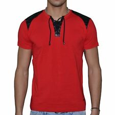 DOGER WEAR - T SHIRT MANCHES COURTES - HOMME - SD 80 COL DOUBLE À LACETS - NEUF