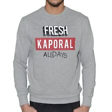 KAPORAL  SWEAT SHIRT  HOMME  MERLO  GRIS CHINÉ NEUF GRADE A