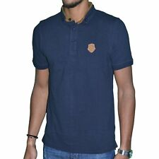 BIAGGIO JEANS - POLO MANCHES COURTES - HOMME - BRUNEL - NAVY NEUF