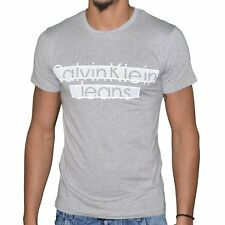 CALVIN KLEIN - T SHIRT MANCHES COURTES - HOMME - 20073 TAMIS - GRIS CHINÉ  NEUF