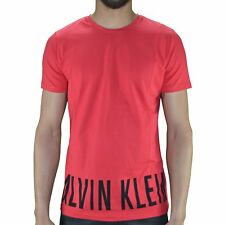 CALVIN KLEIN - T SHIRT MANCHES COURTES - HOMME - ROUNDED - ROUGE NEUF