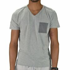 CROSSBY - T-SHIRT MANCHES COURTES - HOMME - MONTY - GRIS CLAIR CHINÉ NEUF